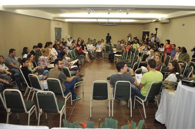 Roda de Conversa reuniu assessorias e comissões de comunicação do Conjunto (foto: Cassiano Ferraz/CRESS-SC)