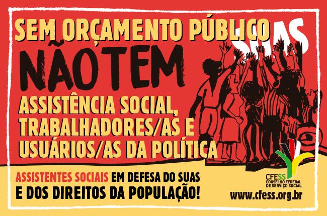 Material lançado pelo CFESS para a 11ª Conferência Nacional de Assistência Social (arte: Rafael Werkema/CFESS)