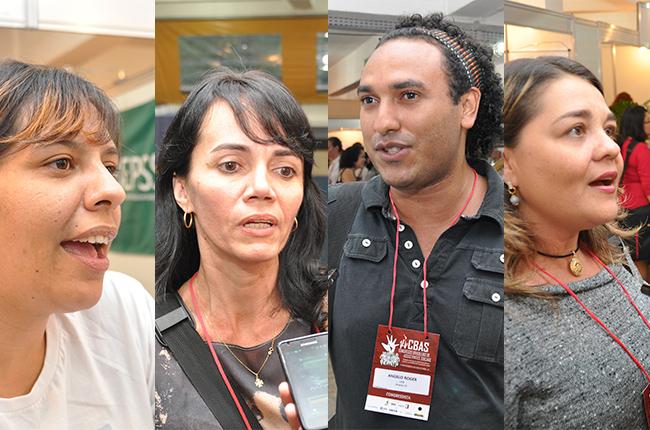 Imagem mostra participantes do CBAS que deram opinião sobre o evento