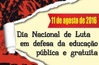 Amanhã é o Dia Nacional de Luta em Defesa da Educação Pública e Gratuita