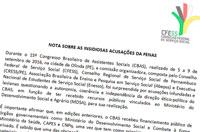 Nota pública: CFESS explica sua posição de saída da Frente Nacional em Defesa do SUAS e da Seguridade Social
