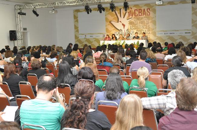 Auditório ficou lotado na atividade sobre Residência em Saúde e Serviço Social (foto: Diogo Adjuto)