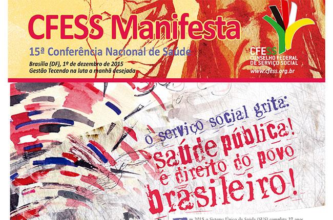 Recorte da imagem do CFESS Manifesta da Conferência de Saúde