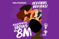 Assistentes sociais no 8M