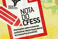 CFESS divulga nota sobre o exercício profissional diante da pandemia do Coronavírus