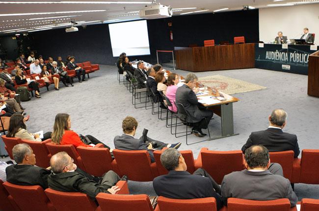 Imagem da audiência pública no STF