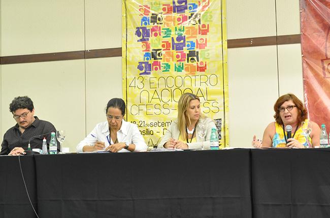 Conferência contou com palestras do presidente do CFESS, Maurílio Matos e da professora da UnB, Ivanete Boschetti