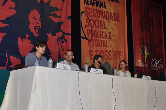 Mesa de abertura do 5º Encontro Nacional Serviço Social e Seguridade Social