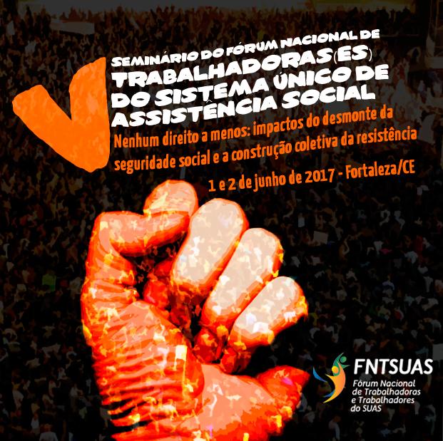 Cartaz de divulgação do 5º Seminário do FNTSUAS