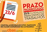 Prazo de envio de trabalhos para 16º CBAS é prorrogado para 23/6