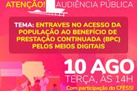 O acesso ao BPC pela população: vai ter audiência pública!
