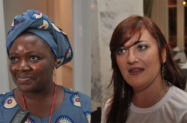 Anavilde Kasessa (esq.) e Silvana Martínez (dir.) avaliaram suas participações no CBAS (fotos: Diogo Adjuto)