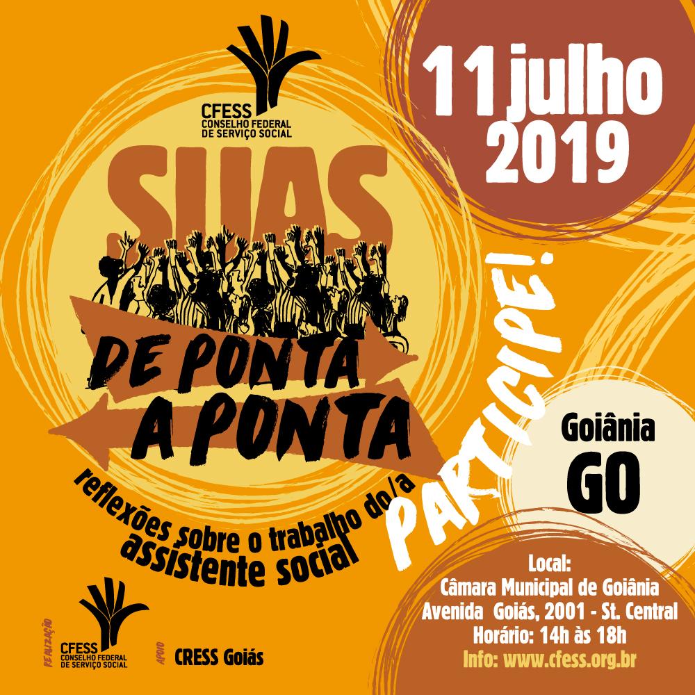 Arte ilustrativa com a marca do projeto e as informações da edição em Goiás.