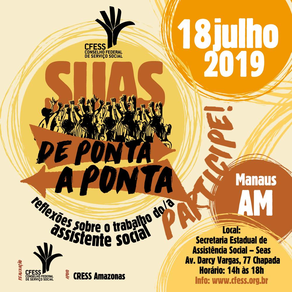 Arte ilustrativa com a marca do evento e informações da edição em Manaus.