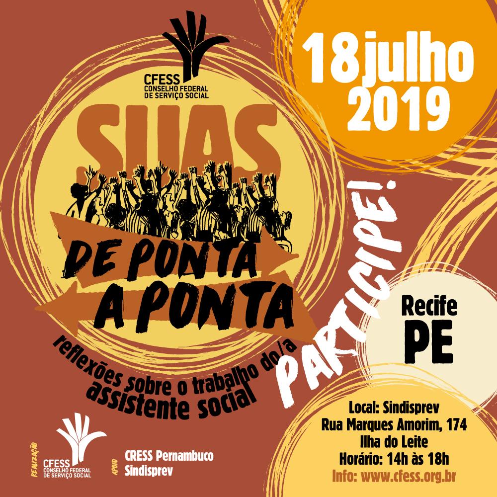 Arte ilustrativa com a marca do evento e as informações da edição em Recife.