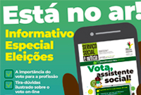 Vota, assistente social: confira a edição especial do Informativo Serviço Social é Notícia