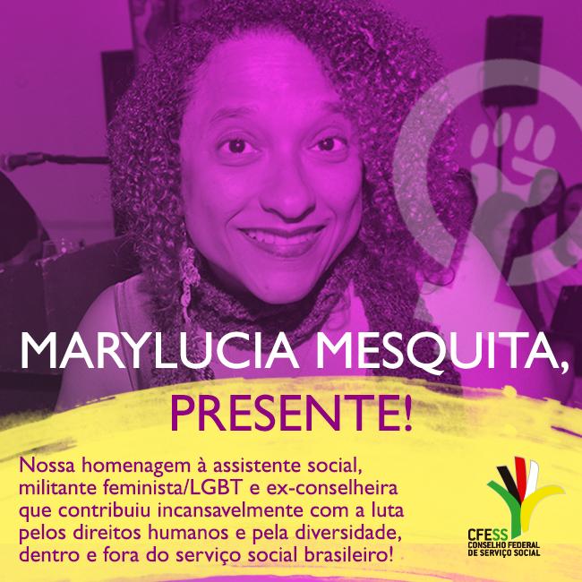 Homenagem à assistente social Marylucia Mesquita
