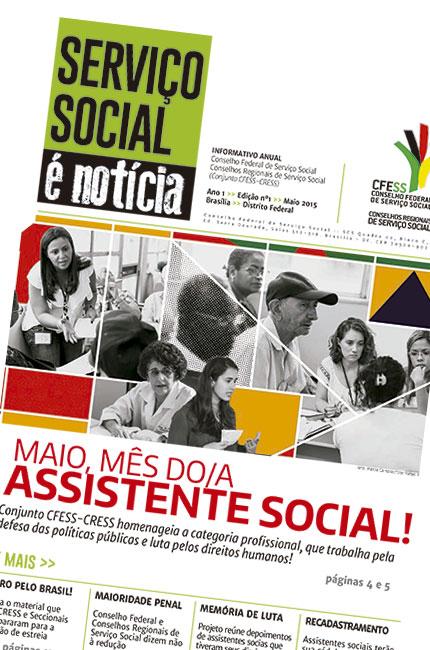 Recorte da imagem da capa do informativo Serviço Social é Notícia