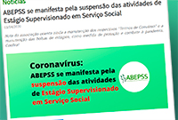 Conselho Federal divulga nota da Abepss sobre suspensão do estágio supervisionado em Serviço Social