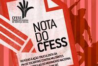 CFESS divulga nota de repúdio à ação truculenta da PM de Tocantins contra o Movimento por Moradia