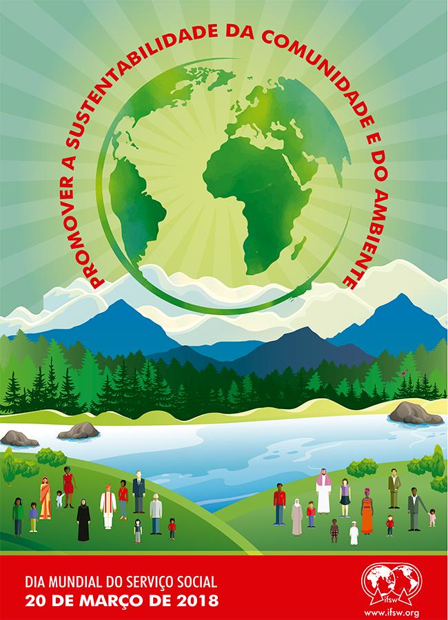 Imagem do cartaz da Fits para o Dia Mundial do Serviço Social 2018