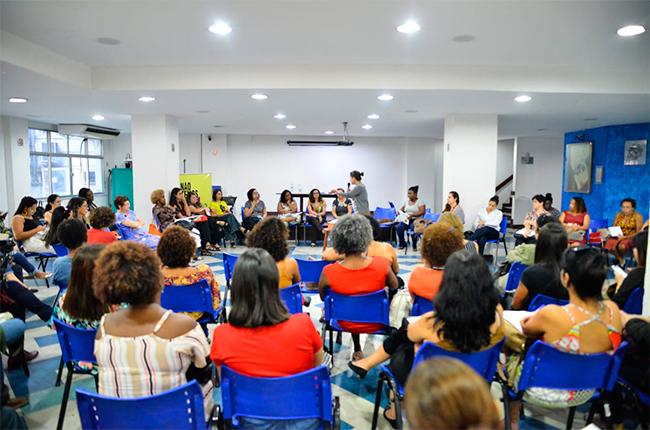 Imagem do público reunido durante o evento Suas de Ponta a Ponta no Rio de Janeiro.