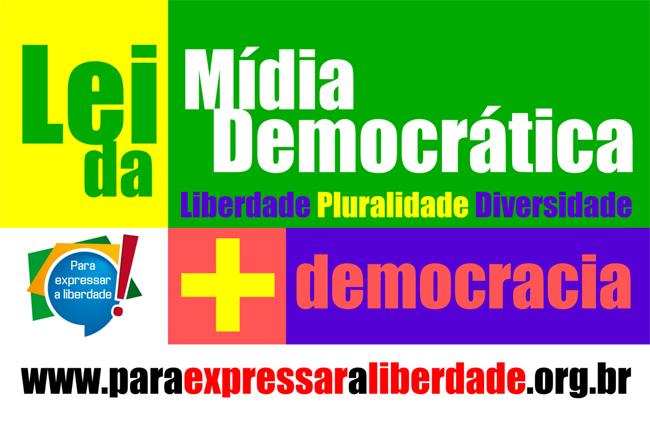 Imagem do banner da campanha Para expressar a Liberdade, com os dizeres: mais democracia, mais pluralidade, mais diversidade.