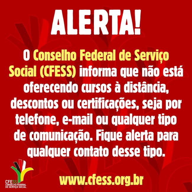 Alerta do CFESS