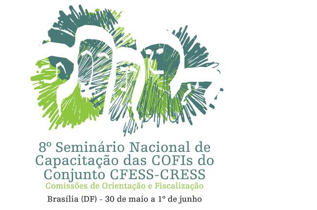 Arte do oitavo seminário nacional das COFI do Conjunto CFESS-CRESS