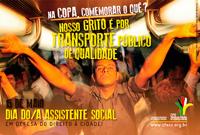 Na copa, comemorar o quê? Queremos saúde e transporte públicos de qualidade! Queremos moradia digna!