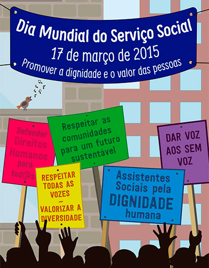 Cartaz da Fits para o Dia Mundial do Serviço Social 2015