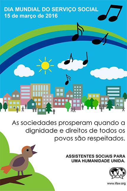 Cartaz elaborado pela Fits para o Dia Mundial do Serviço Social 2016