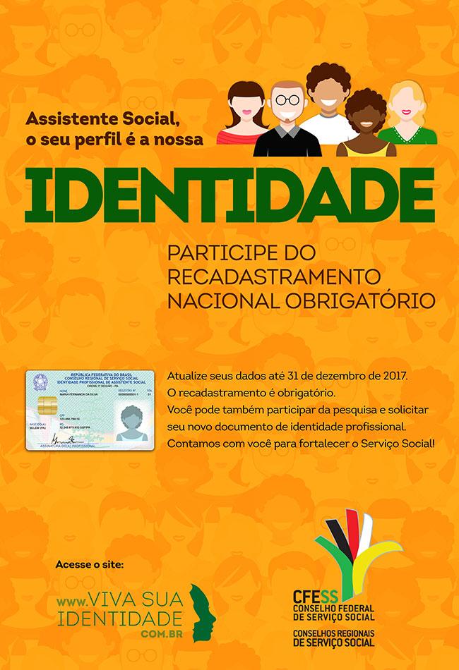 Cartaz do Recadastramento Nacional Obrigatório de Assistentes Sociais