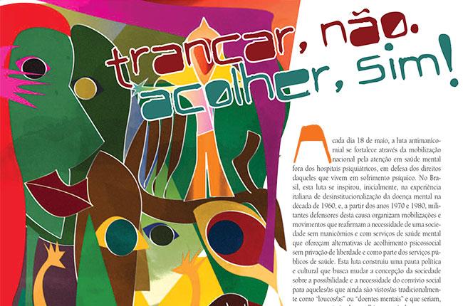 Recorte da ilustração do CFESS Manifesta da Luta Antimanicomial de 2012
