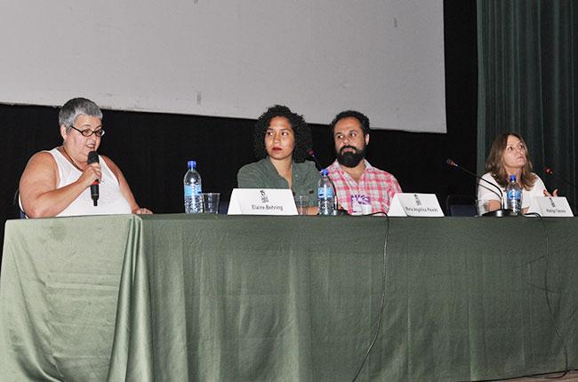 Imagem da mesa com as palestrantes da conferência 3 do CBAS