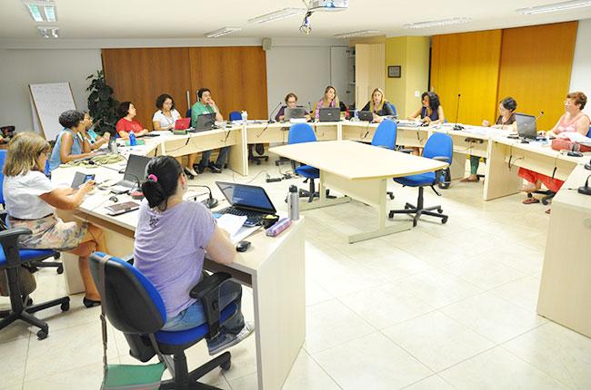 Imagem da primeira reunião de 2015 do Conselho Pleno do CFESS