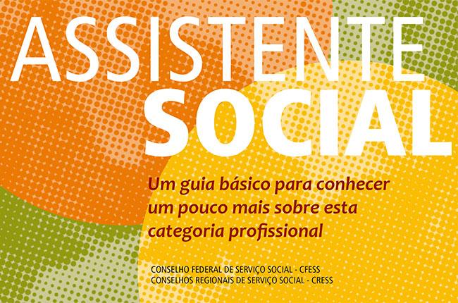 Imagem do folder sobre o assistente social e a profissão