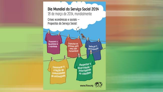Cartaz da FITS para o Dia Mundial do Serviço Social 2014
