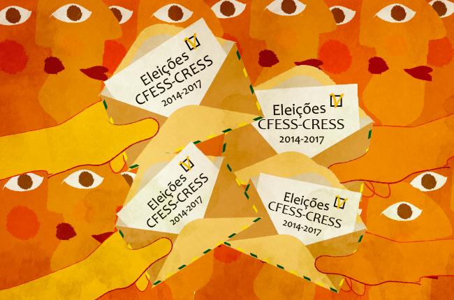 Eleições CFESS-CRESS (arte: Rafael Werkema)