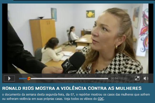 Imagem do vídeo com a participação da conselheira do CFESS Elisa Braga no CQC