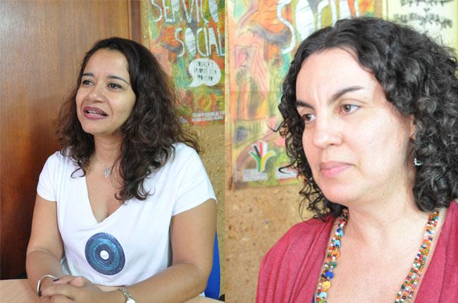 Conselheiras Esther Lemos e Rosa Prédes explicam sobre a regulação do trabalho em saúde
