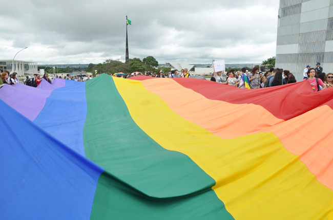 Imagem da última Marcha Nacional LGBT em Brasília