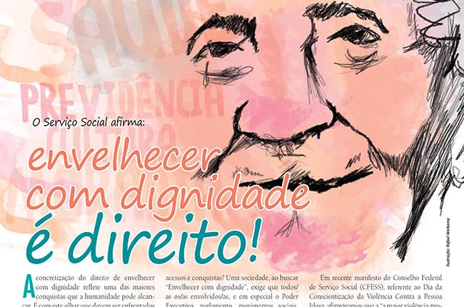 Recorte da imagem do CFESS Manifesta e adesivo elaborados para a Conferência da Pessoa Idosa, em 2011