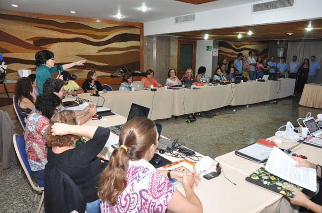 Imagem da reunião do Conselho Pleno de Transição