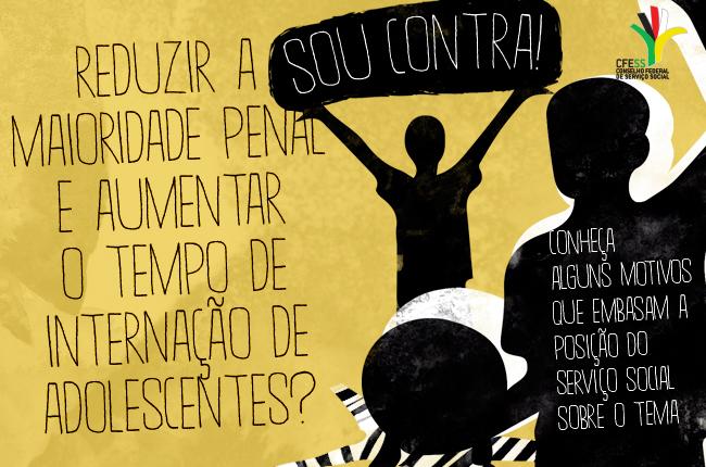 Imagem do folder contra a redução da maioridade penal (arte: Rafael Werkema)