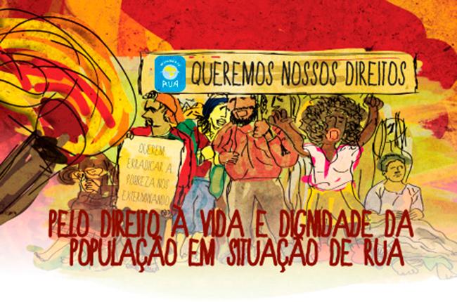 Imagem do cartaz pela defesa dos direitos da população em situação de rua
