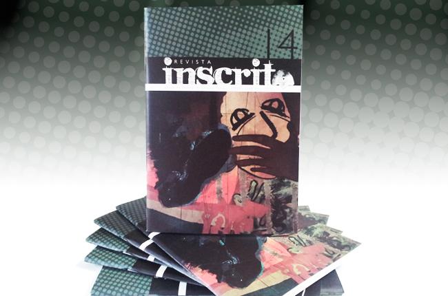Imagem mostra capa da Inscrita 14, que tem uma ilustração de um rosto sendo sufocado e manifestantes perto de serem pisoteados