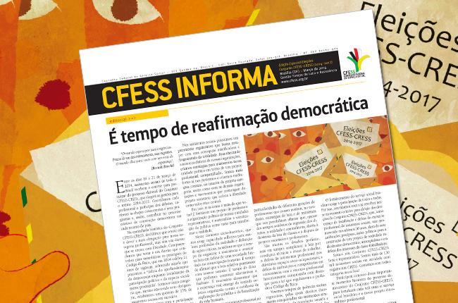 Imagem mostra capa do jornal CFESS Informa Especial