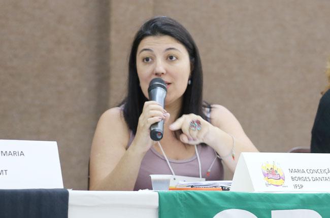 Imagem da assistente social do Instituto Federal de São Paulo, Maria Conceição Borges