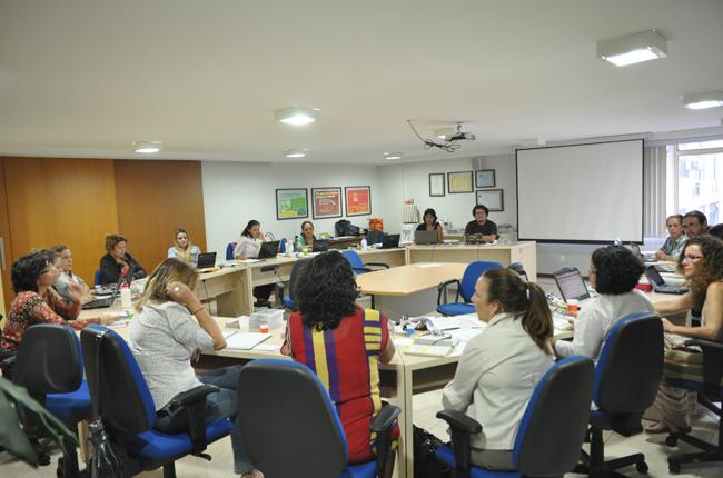 Foto da reunião do Conselho Pleno, na sede do CFESS